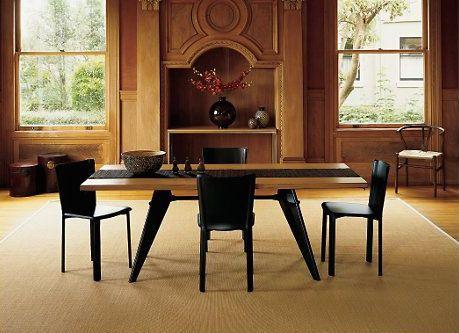 vitra table em plateau bois jean prouv. Black Bedroom Furniture Sets. Home Design Ideas