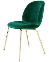 Gubi beetle chair metal legs fully upholstered shell - Chaise de jardin verte ...