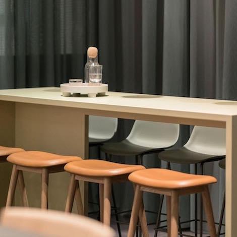 Super Muuto Fiber Bar Stool Wooden Base Beatyapartments Chair Design Images Beatyapartmentscom