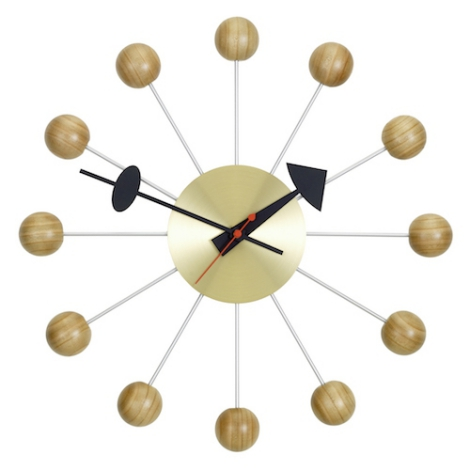 vitra ball clock georges nelson. Black Bedroom Furniture Sets. Home Design Ideas