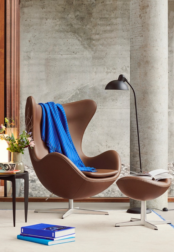 Leather Egg Chair Fritz Hansen Scandinavia Design