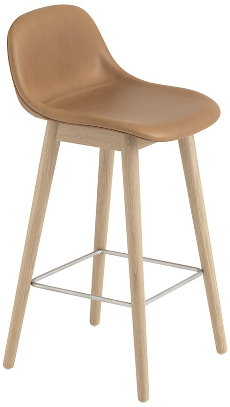 Muuto Fiber Bar Stool Wooden Base