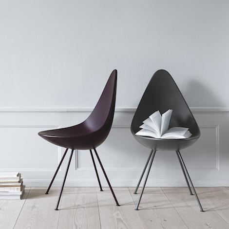 Fritz Hansen – chaise Drop plastique – design Arne Jacobsen