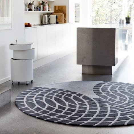 verpan tapis en laine grande verner panton. Black Bedroom Furniture Sets. Home Design Ideas