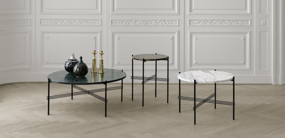 Gubi Ts Side Tables Round With Marble Gamfratesi