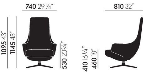 vitra fauteuils repos et grand repos antonio citterio. Black Bedroom Furniture Sets. Home Design Ideas