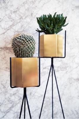 ferm living pots hexagone et supports sur pied ou muraux. Black Bedroom Furniture Sets. Home Design Ideas