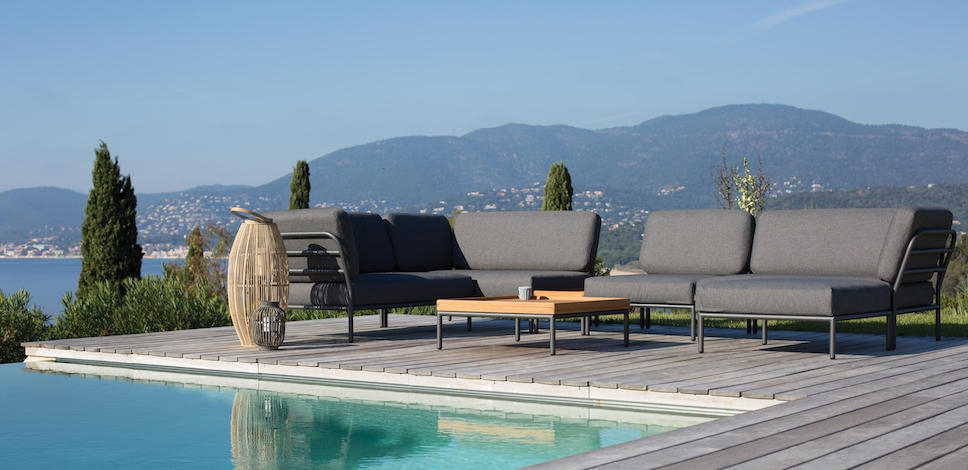 Scandinavian Design Outdoor Furniture, Blue Outdoor Furniture