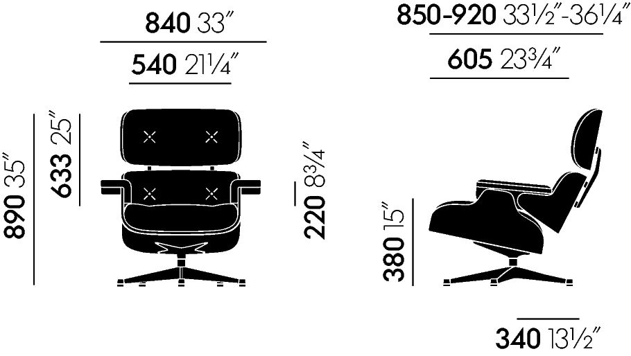 Vitra Fauteuil Eames Lounge Design Charles Et Ray
