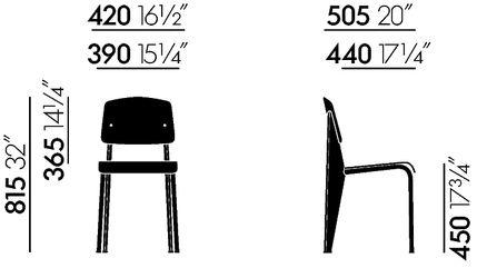 vitra chaise standard sp jean prouv. Black Bedroom Furniture Sets. Home Design Ideas