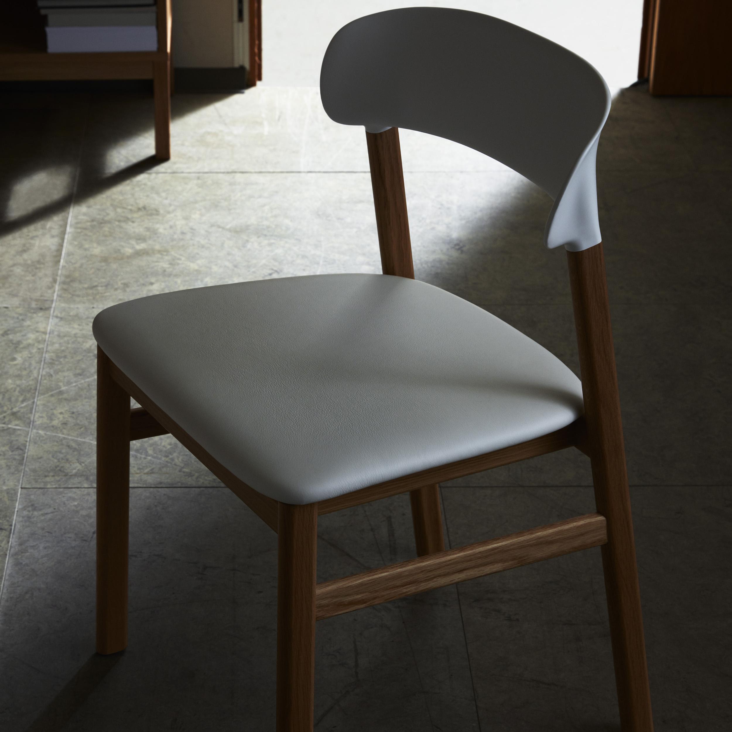 Normann Copenhagen – chaise Herit – design Simon Legald, 2018