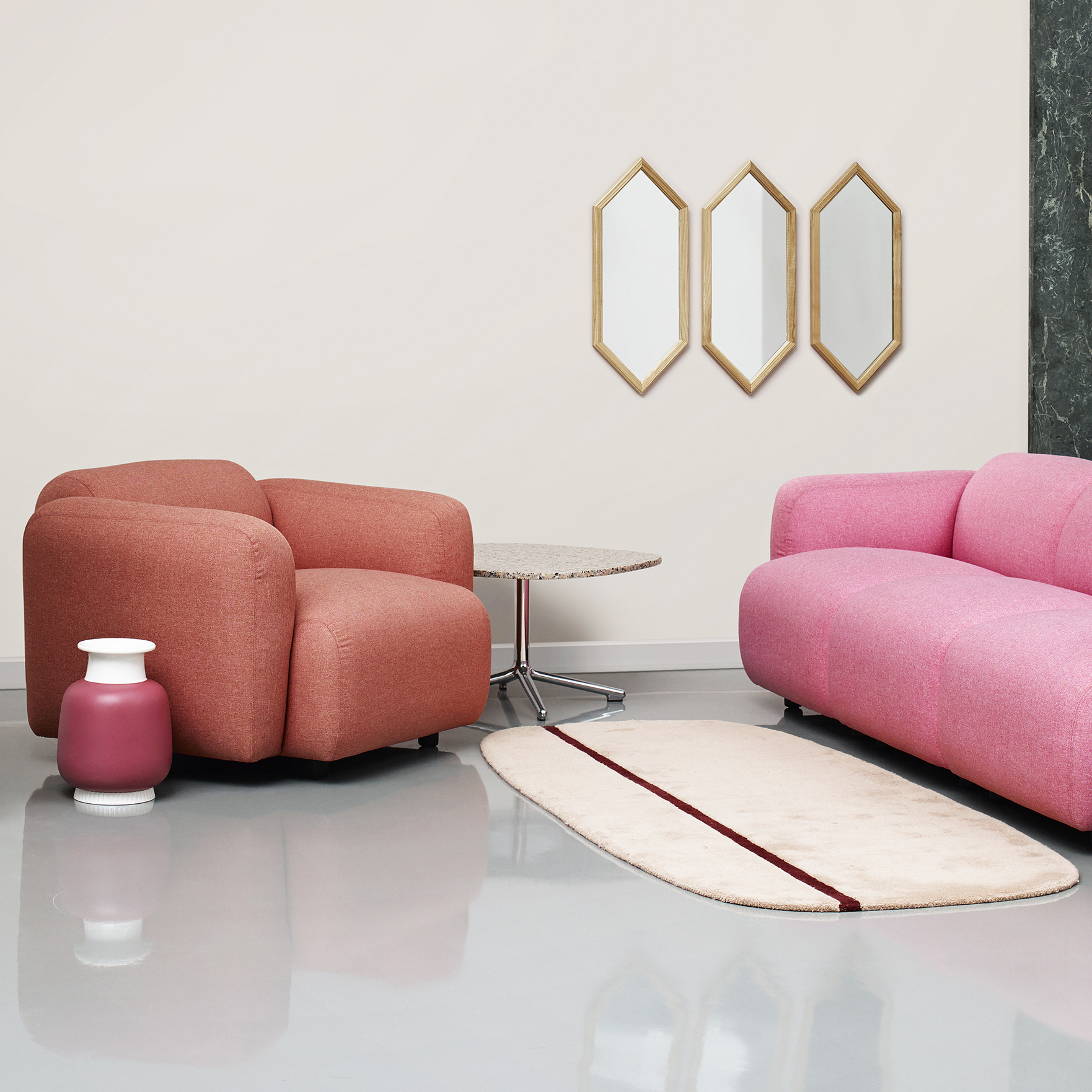 Normann copenhagen oona carpets design simon legald for Scandic design