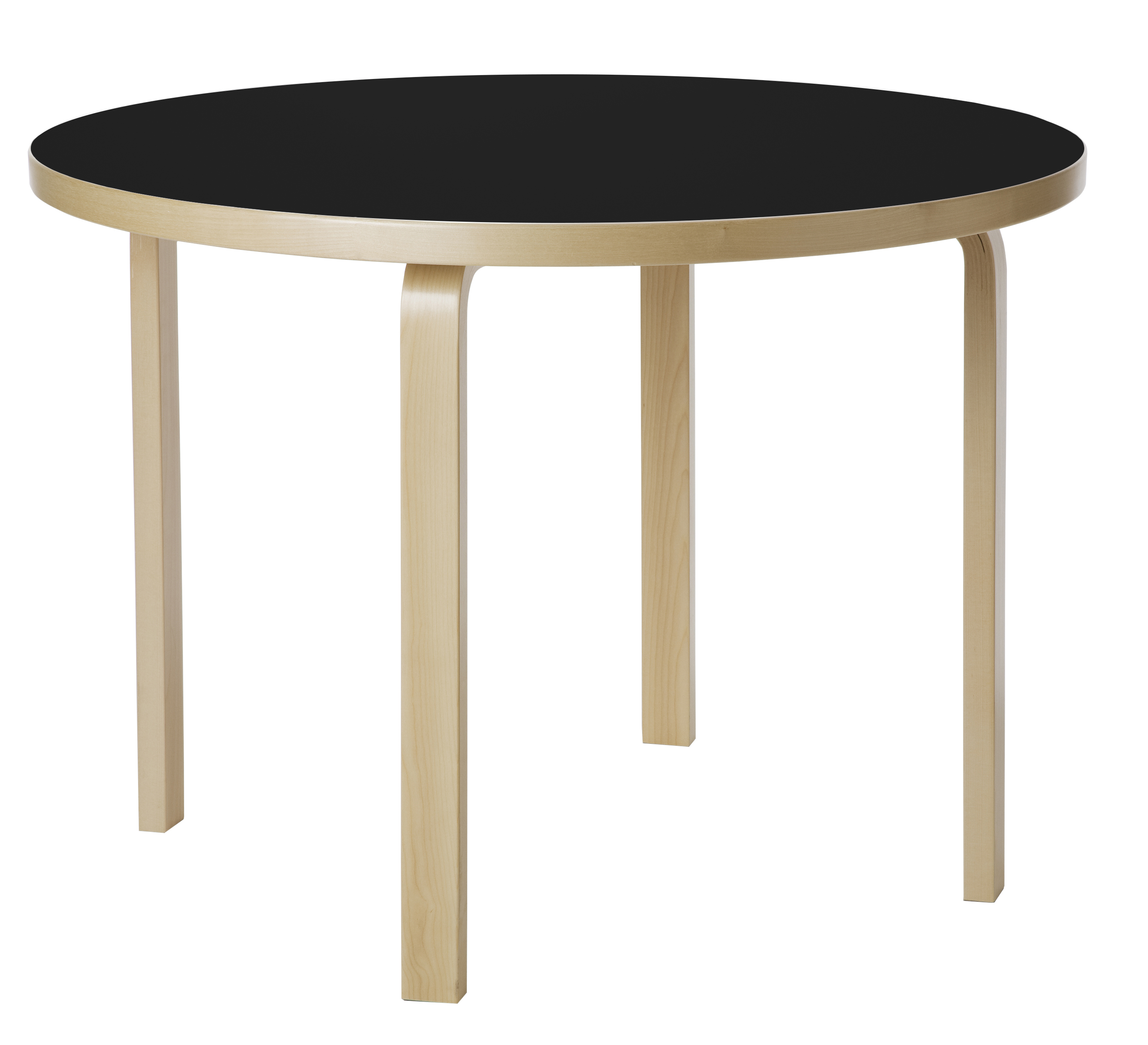 Charmant Birch Table Top With Black Linoleum