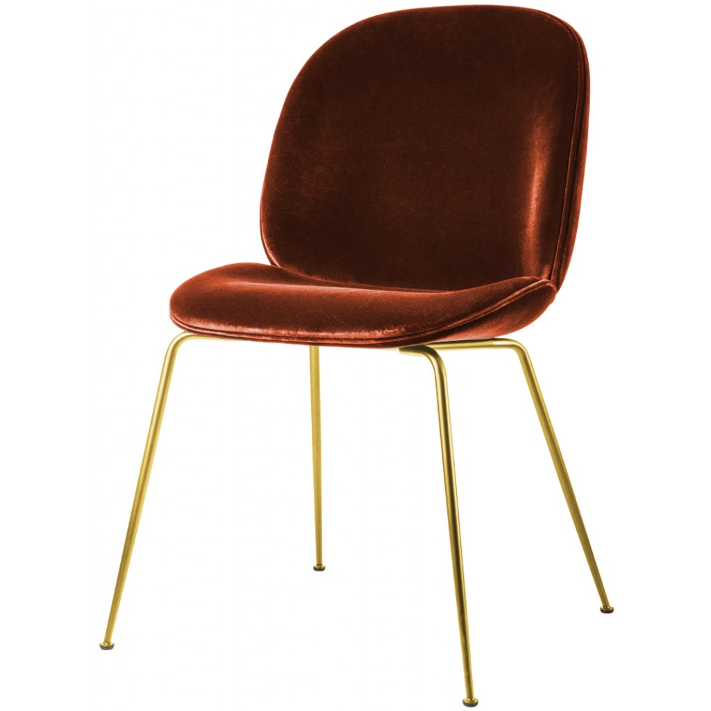 Gubi Beetle Chair Metal Legs Fully Upholstered Shell