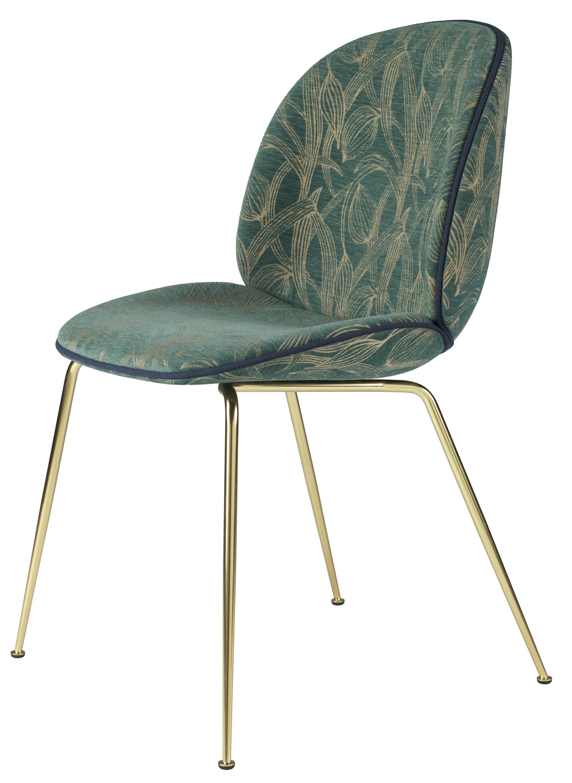 Gubi Beetle Chair Metal Legs Fully Upholstered Shell