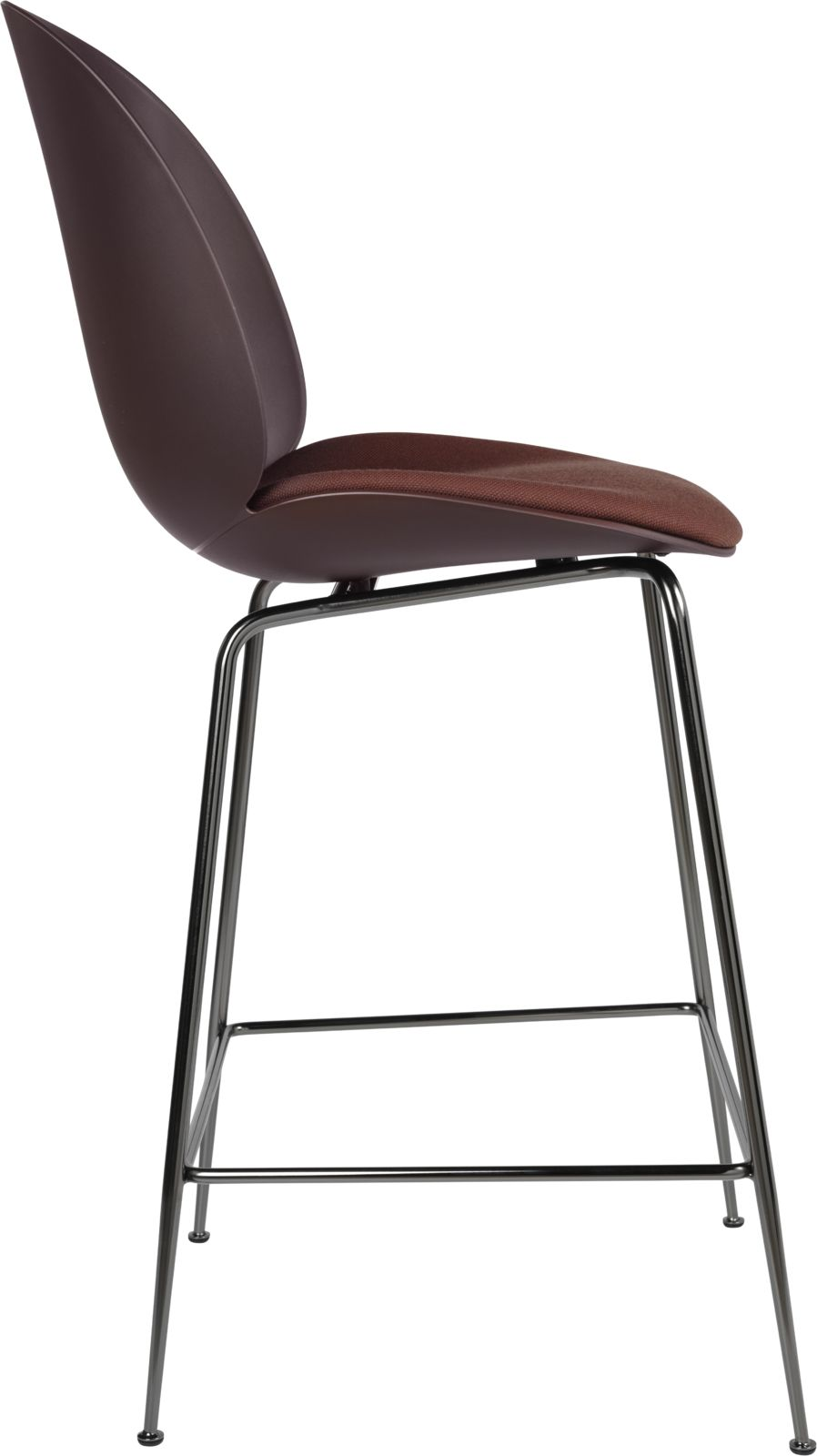 Gubi Beetle Bar Chair Plastic Shell Metal Legs