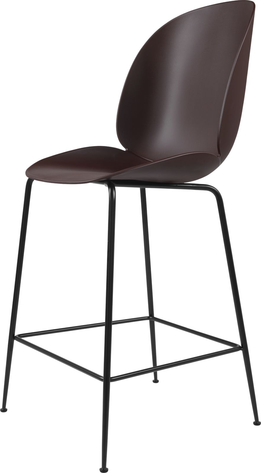 Gubi Beetle Bar Chair Plastic Shell Metal Legs