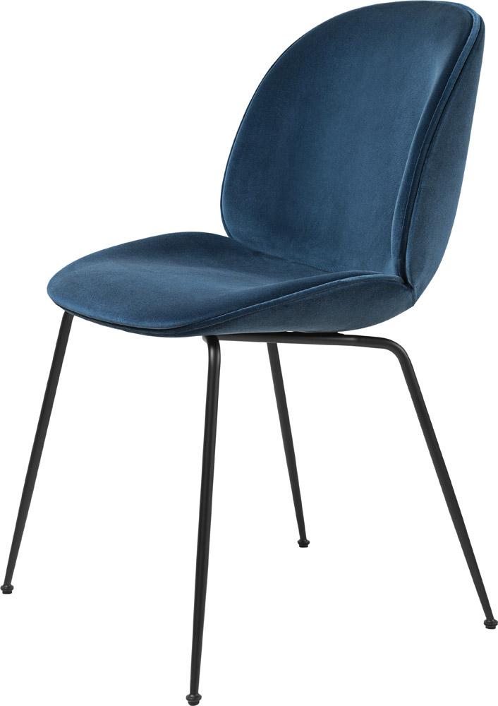 Gubi chaise Beetle pieds métal, coque rembourrée