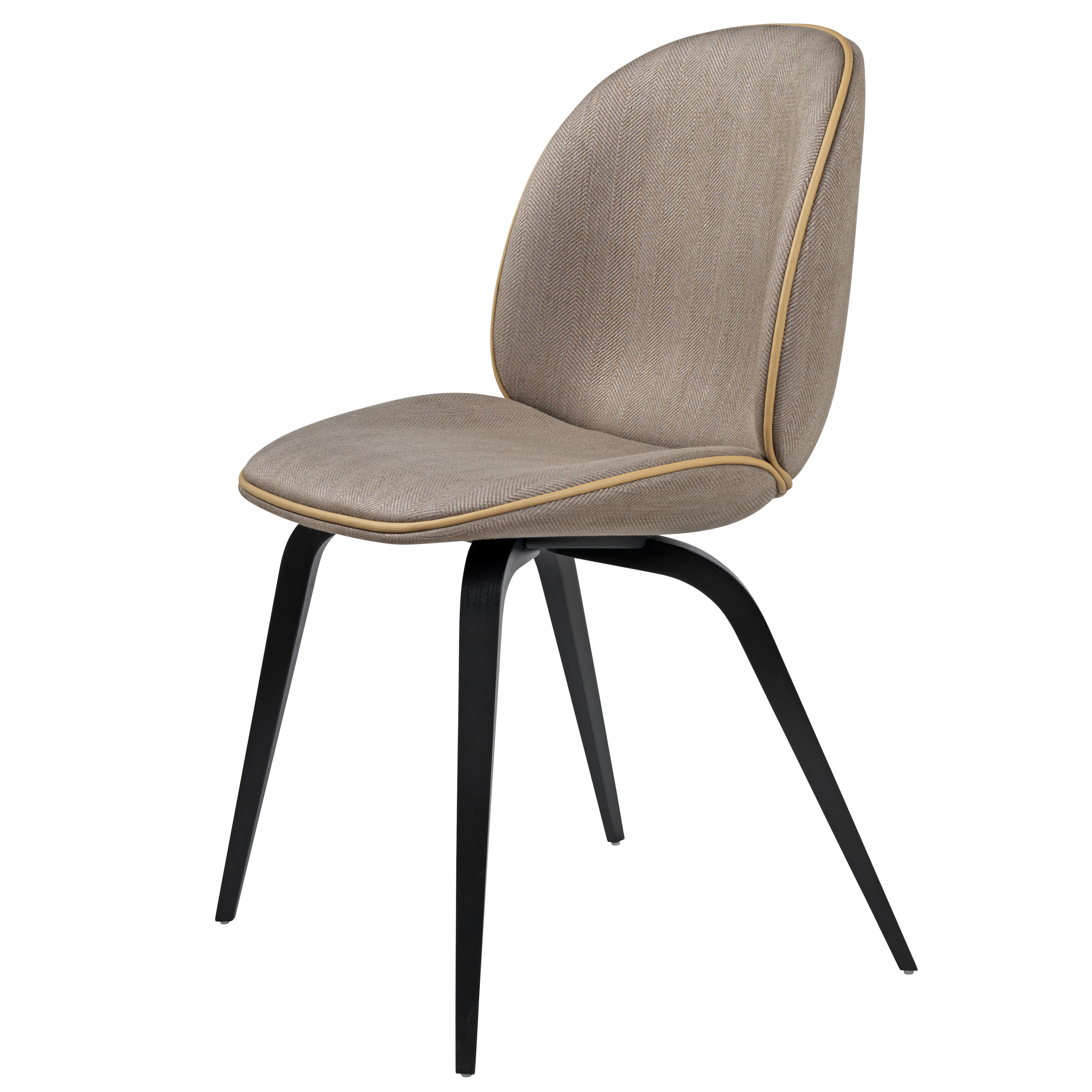 Gubi Beetle Chair With Wooden Base Fully Upholstered