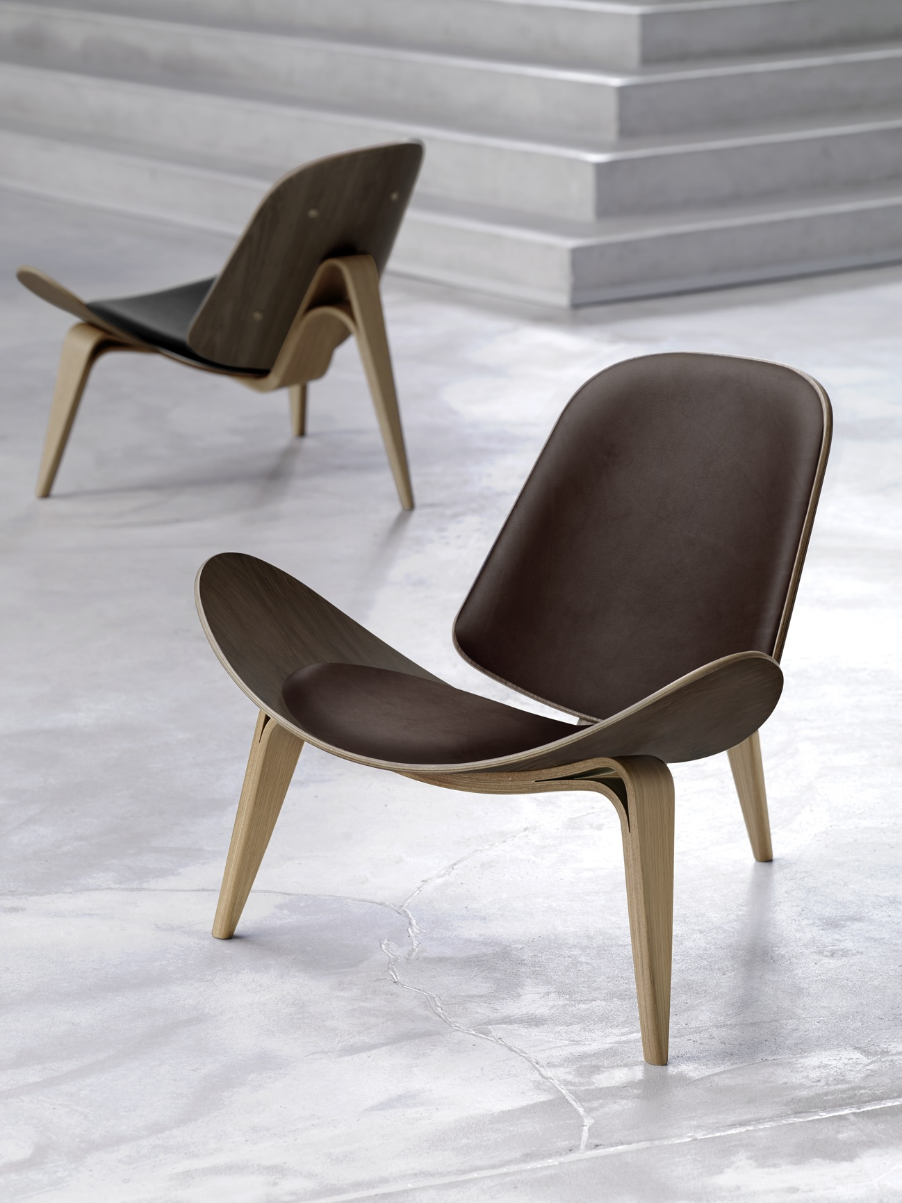 Hans wegner shell chairs - The Ch07 Also Known As Shell Chair And Tripod Is One Of The Most Original Chairs Designed By Hans Wegner Created In 1963 The Ch07 Chair Experienced