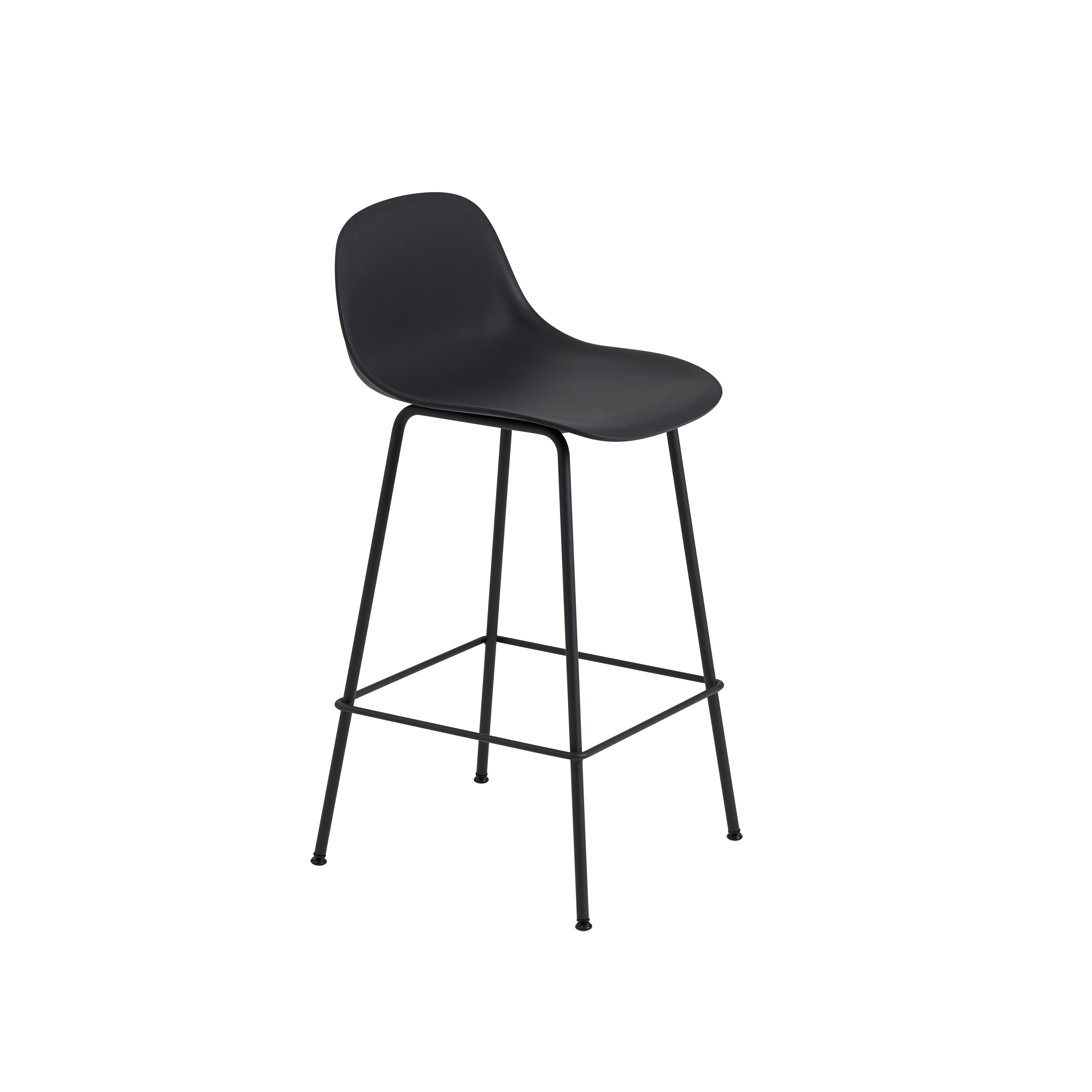 Muuto fiber bar stool tube base - Chaise hauteur assise ...