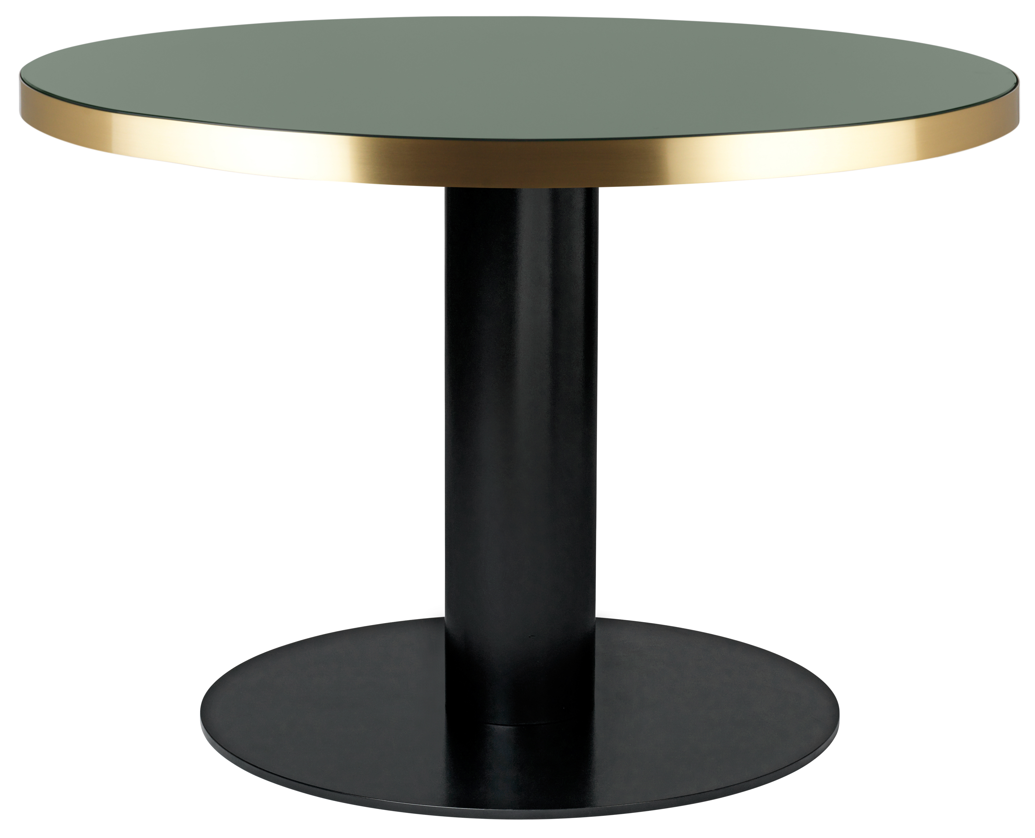 The Gubi Round Table 2.0 With Glass Top Comes In 2 Dimensions: Ø110cm And  Ø125cm. Its Center Base Is Available With Two Finishes U2013 Brass Or Black U2013  With A ...