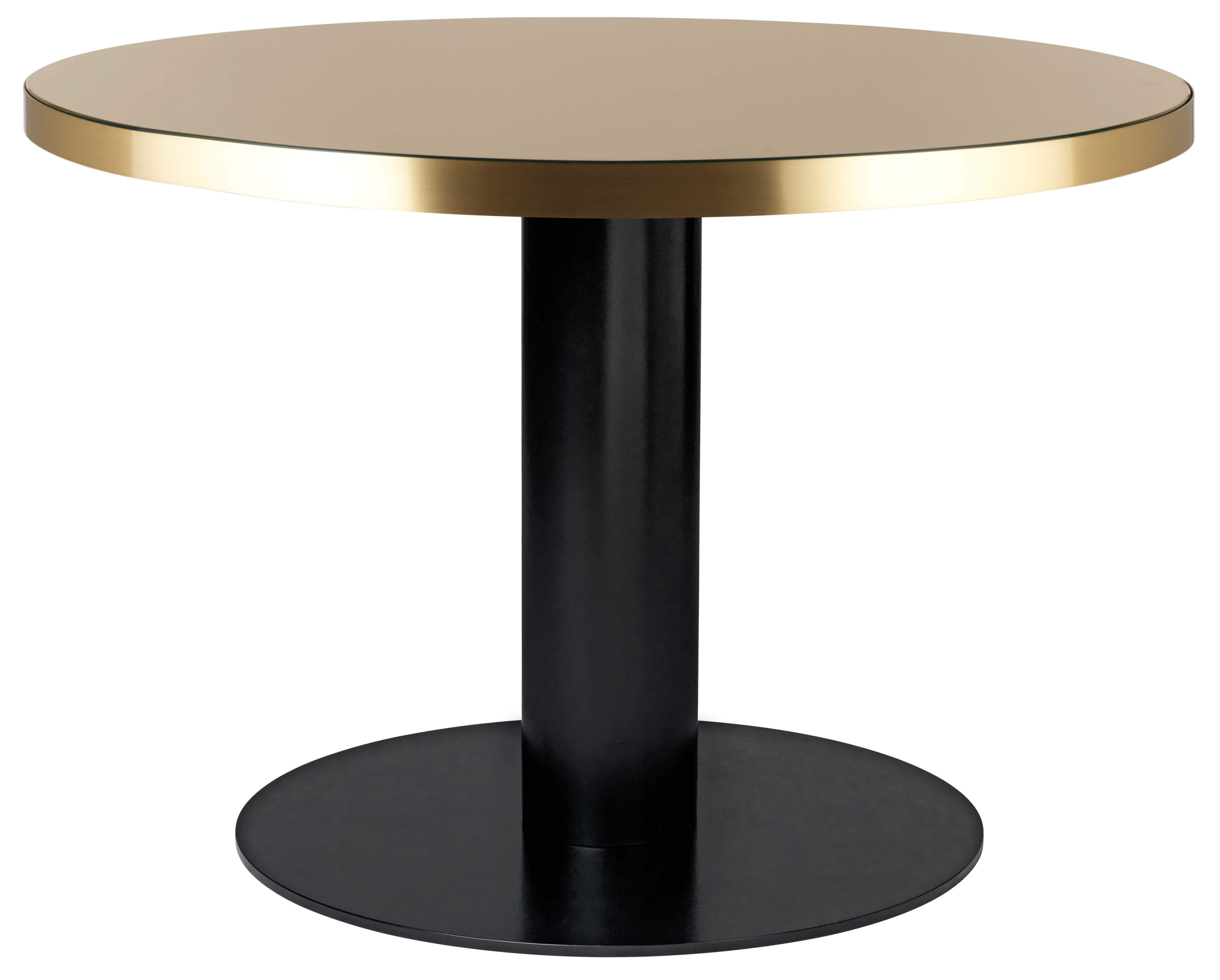 Granit Grey Table Top + Brass Base