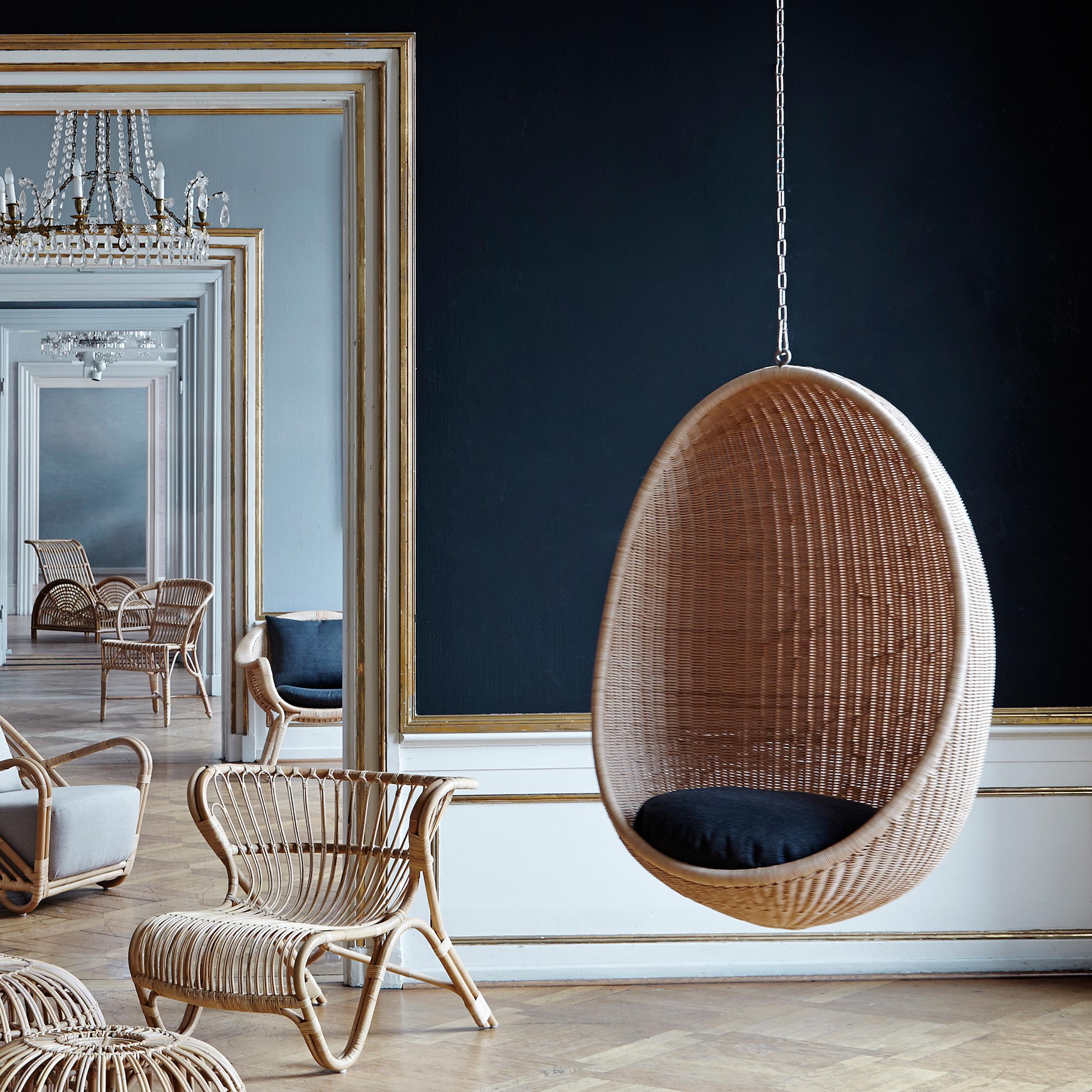 Egg Chair Rotan.Sika Design Hanging Egg Chair Design Nanna Ditzel 1959