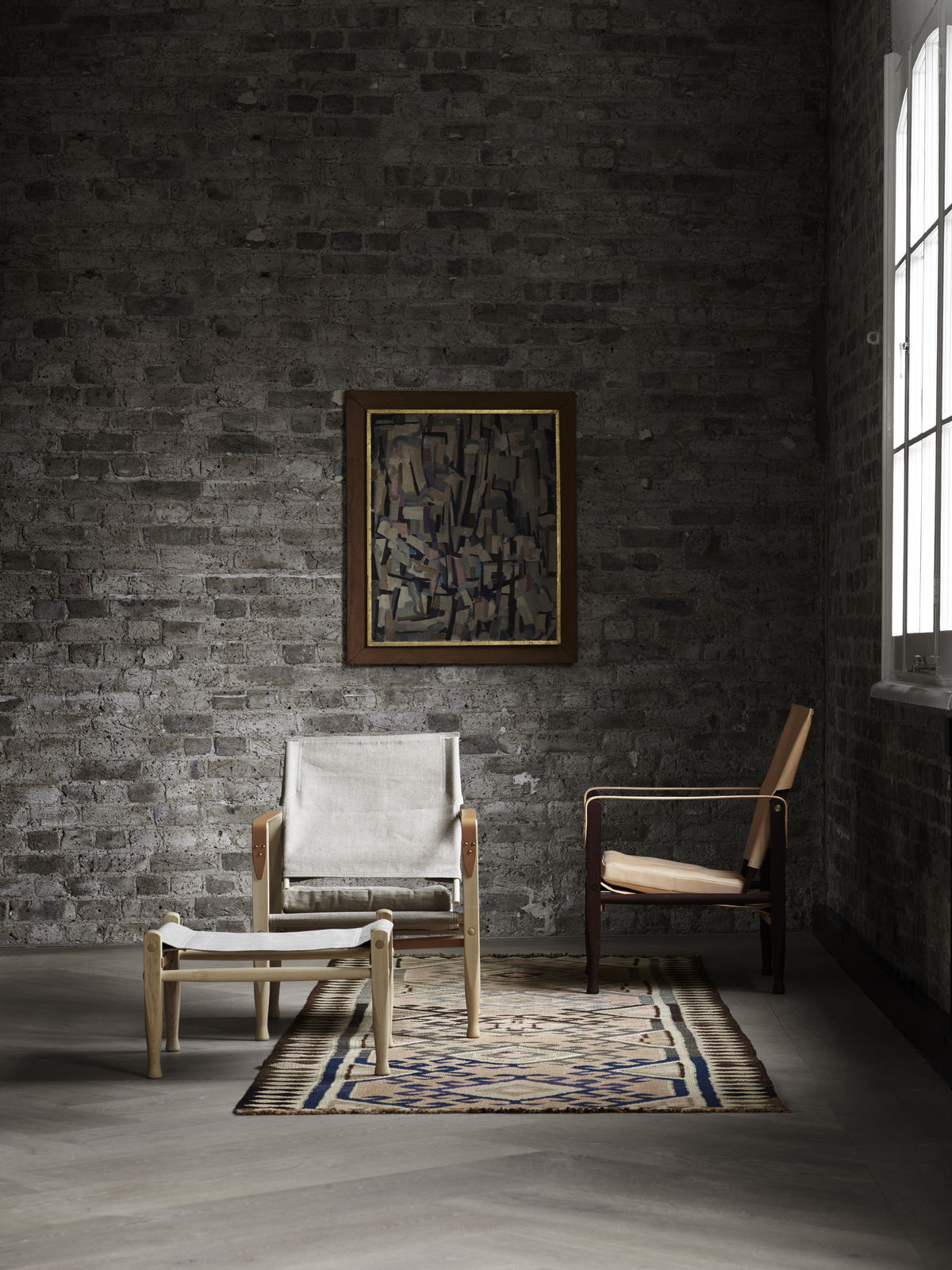 Carl hansen s n safari chair design kaare klint for Scandic design