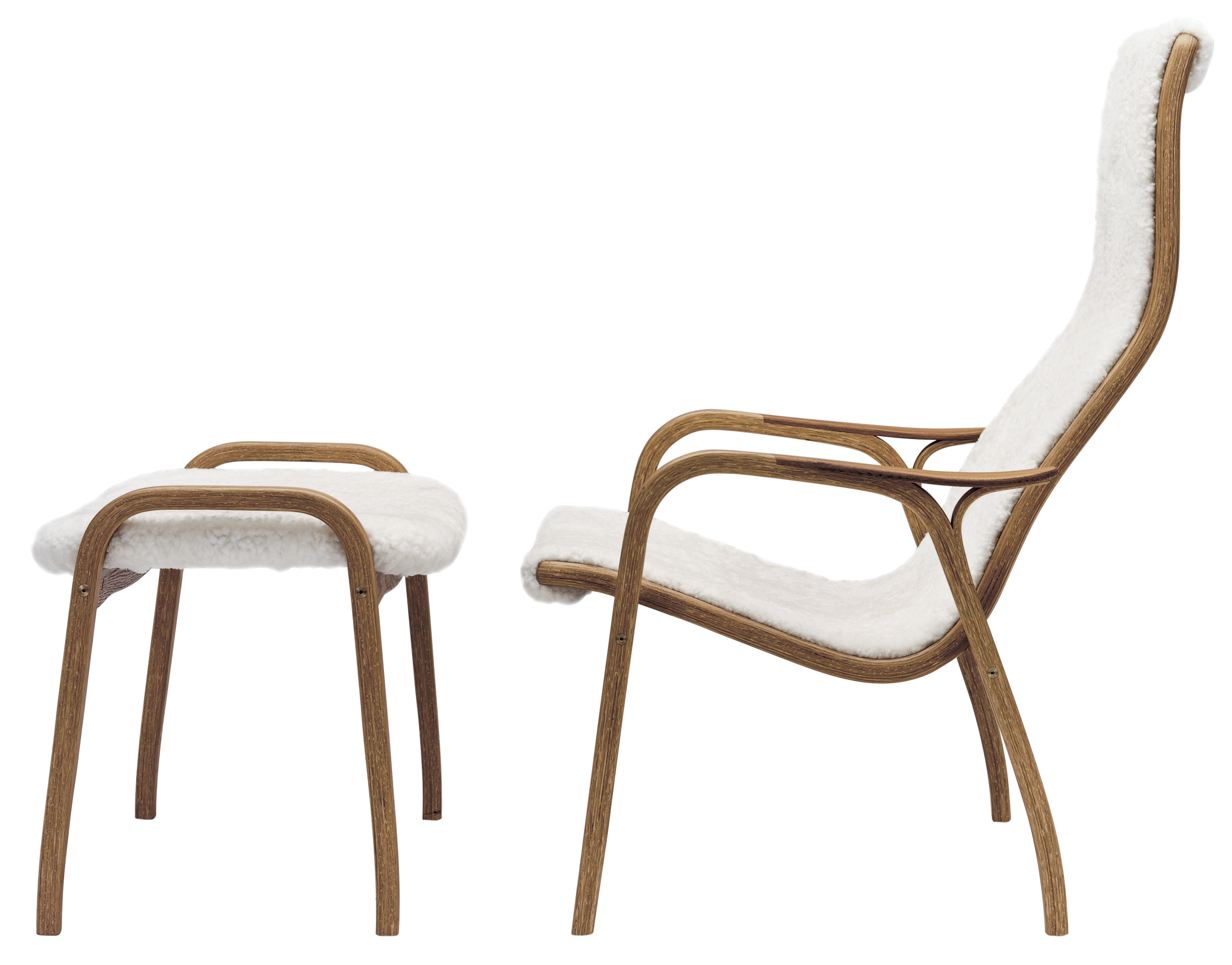 Fauteuil LAMINO de Yngve Ekström, Swedese möbler