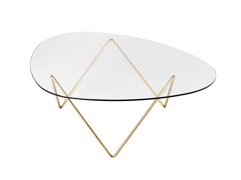 Table basse pedrera gubi design barba corsini for Table basse verre et laiton