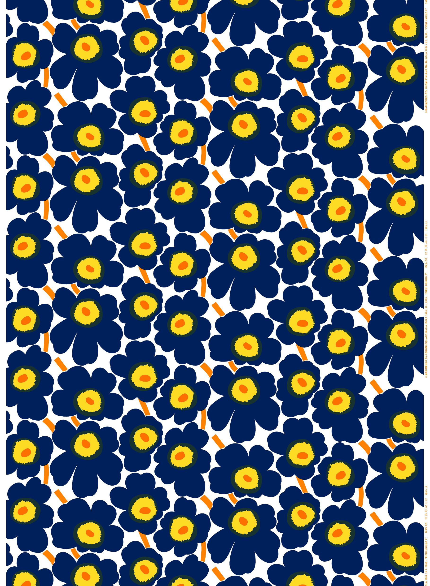 Marimekko Pieni Unikko Cotton Amp Coated Cotton Fabrics Maija Isola