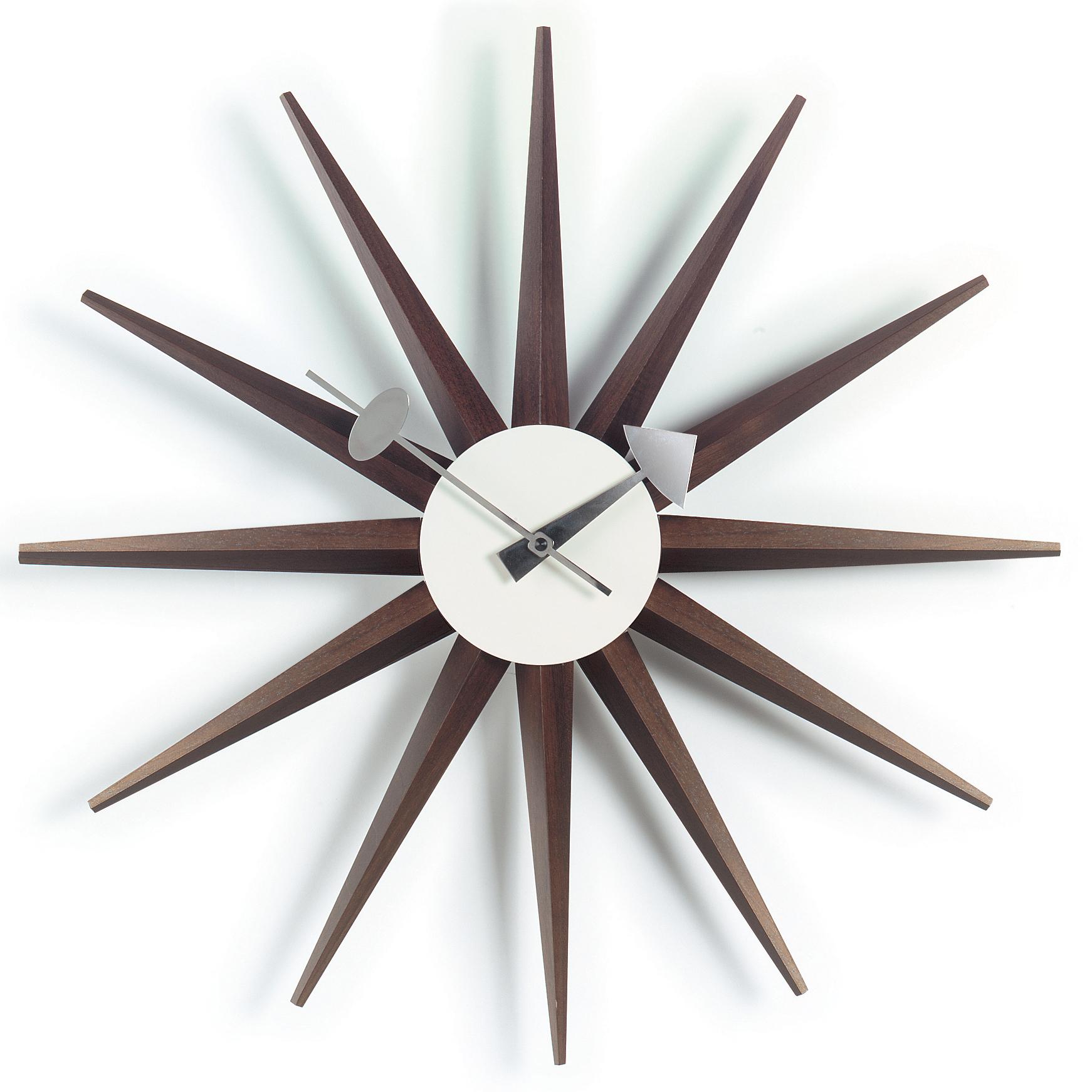 vitra - horloge sunburst – design george nelson