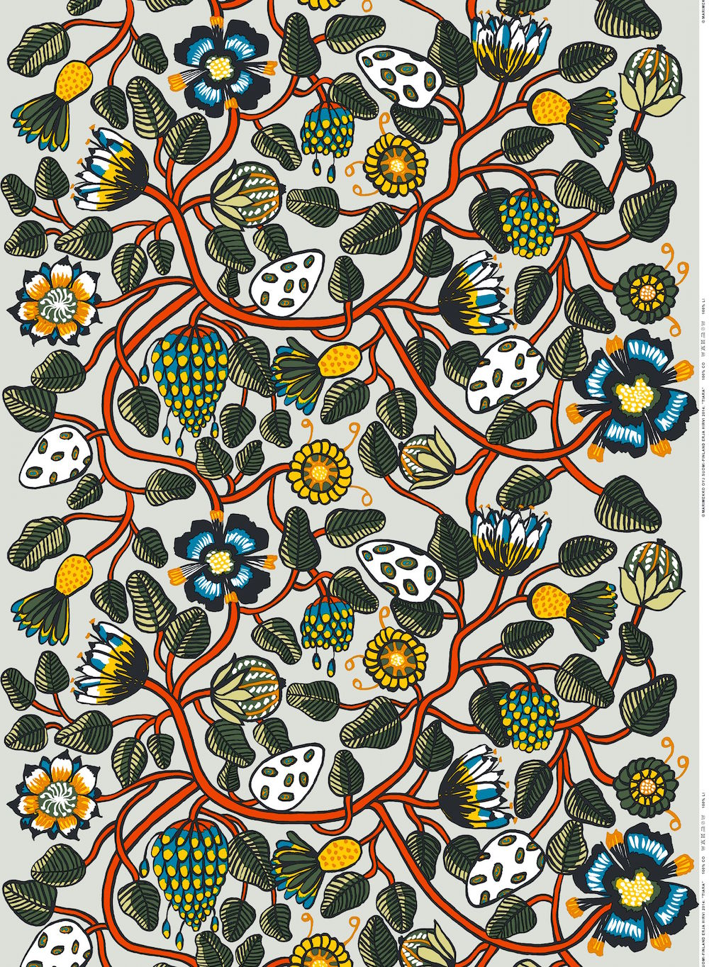 Marimekko tiara fabric design erja hirvi for Scandic design