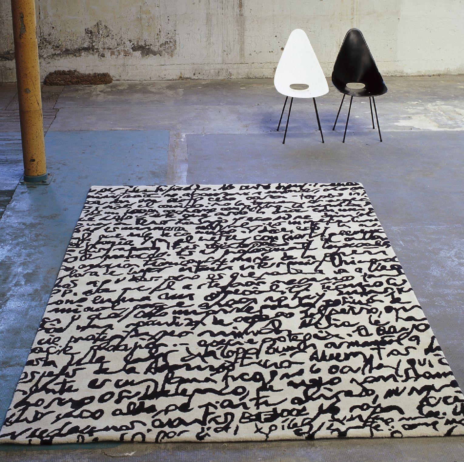 Nanimarquina - Manuscrit rug - Black on White collection