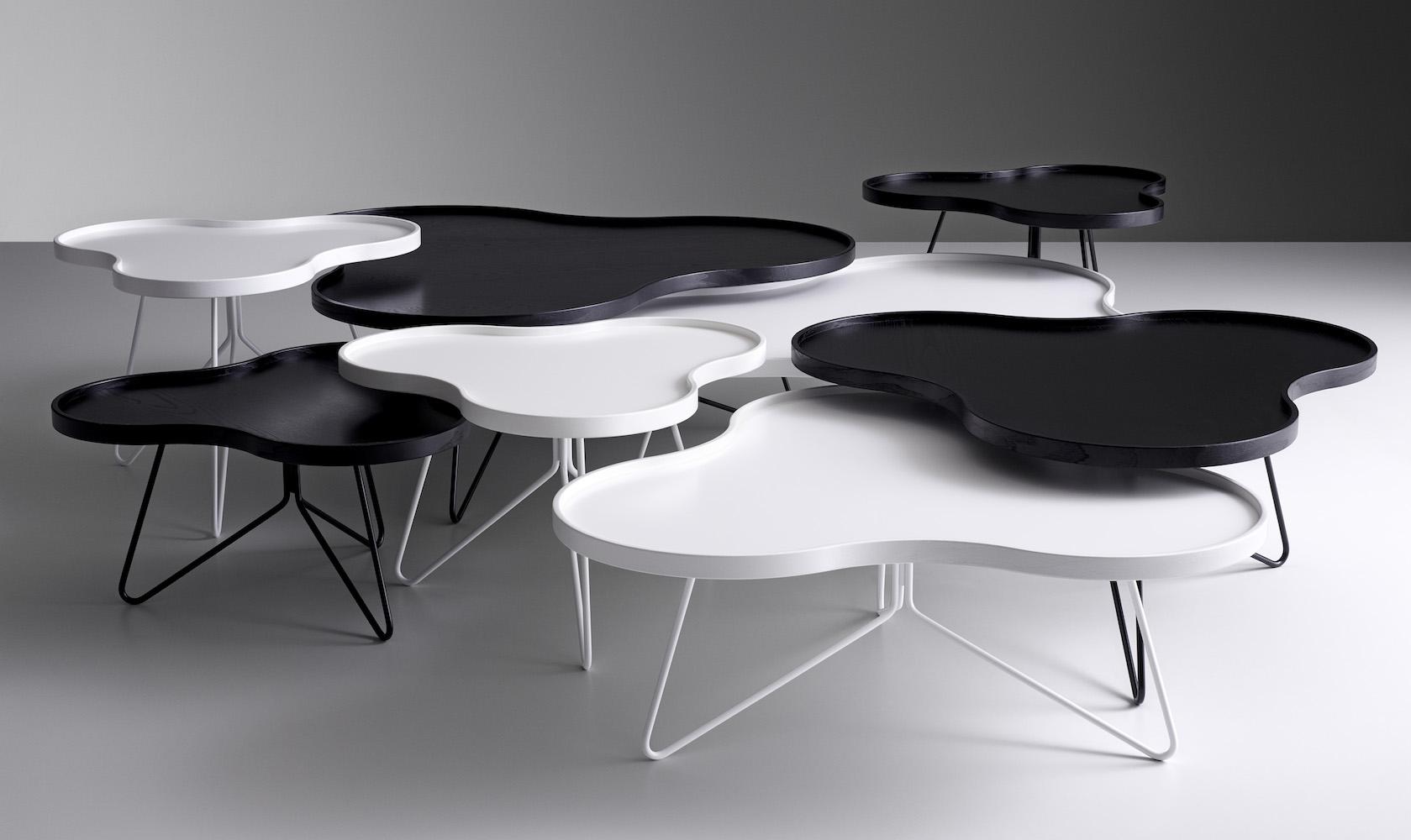 Swedese u2013 Flower and Flower Mono coffee tables u2013 design Christine Schwarzer