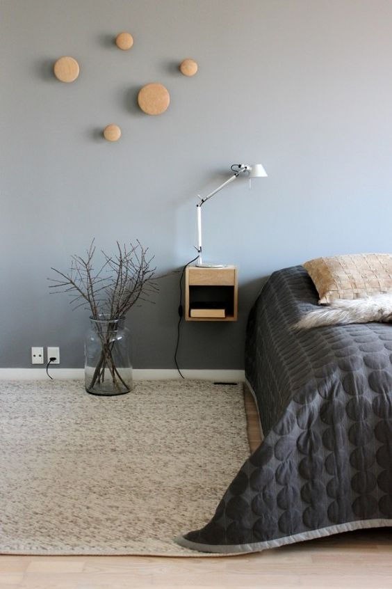 Black And Light Grey Bedroom