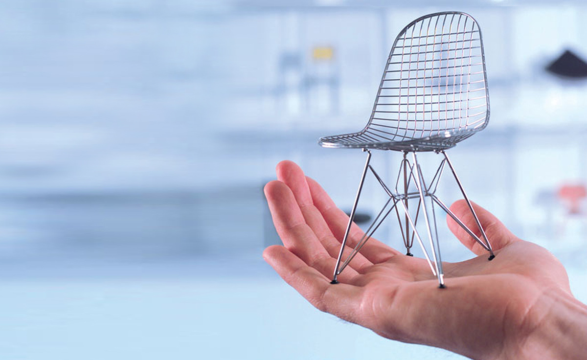 Vitra miniatures collection for Scandic design