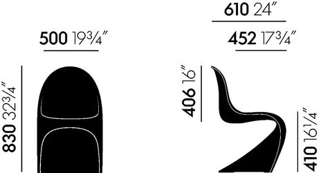 vitra - chaise panton - verner panton - Chaise Panton Pas Cher