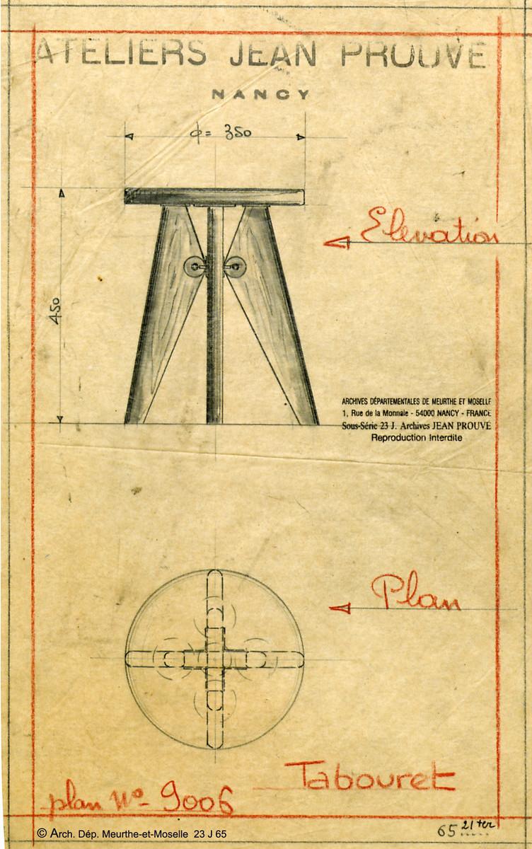 Vitra Solvay Stool Design Jean Prouv 233 1941